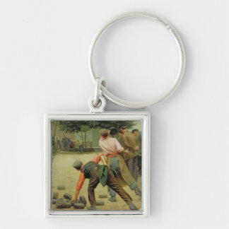 A Game of Bourles in Flanders, 1911 Key Ring