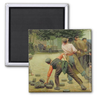 A Game of Bourles in Flanders, 1911 Square Magnet
