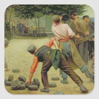 A Game of Bourles in Flanders, 1911 Square Sticker