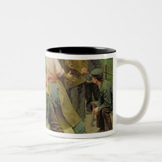 A Game of Bourles in Flanders, 1911 Two-Tone Coffee Mug