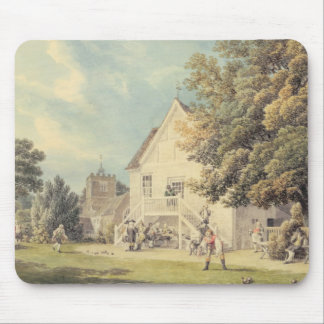 A Game of Bowls on the Bowling Green outside the B Mouse Pad