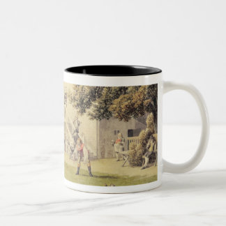 A Game of Bowls on the Bowling Green outside the B Two-Tone Coffee Mug