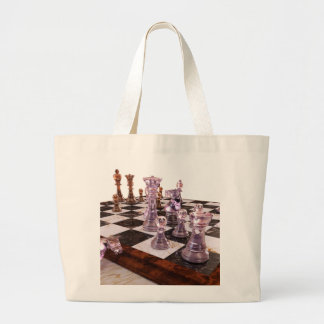 A Game of Chess Large Tote Bag