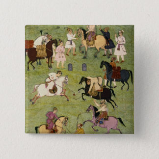 A Game of Polo, from the Large Clive Album 15 Cm Square Badge
