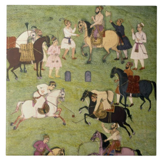 A Game of Polo, from the Large Clive Album Large Square Tile