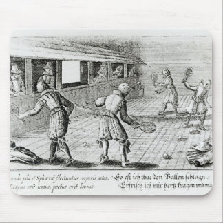 A Game of Real Tennis with Sport Ballads below Mouse Mat