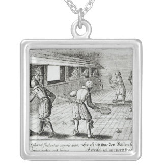 A Game of Real Tennis with Sport Ballads below Silver Plated Necklace