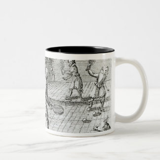 A Game of Real Tennis with Sport Ballads below Two-Tone Coffee Mug