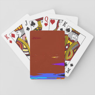 A Game Sunset Abstract Expressionism Playing Cards