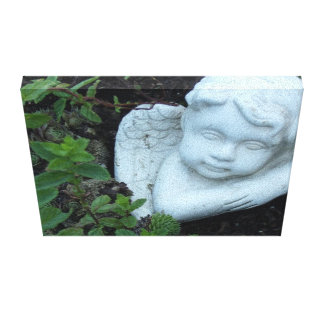 A Garden Angel Gallery Wrapped Canvas