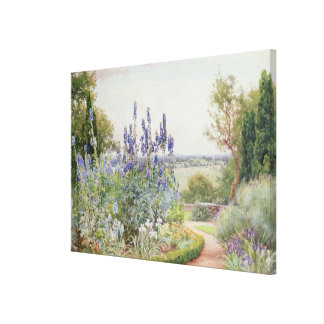 A Garden Near the Thames (w/c) Canvas Print