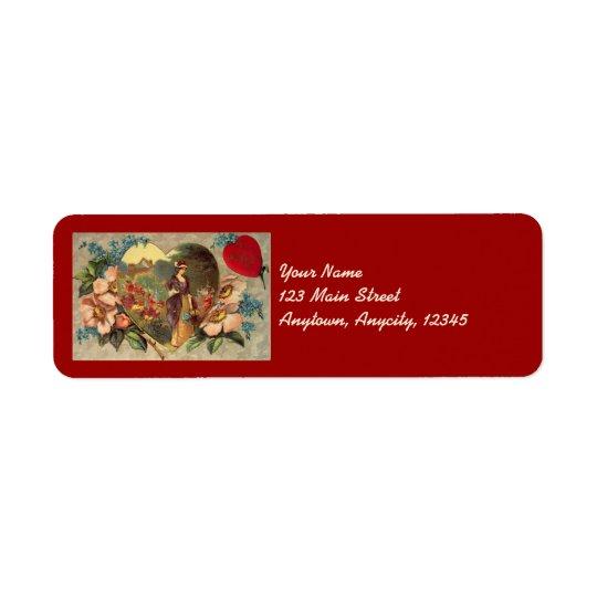 A Garden of Flowers Valentine Address Stickers