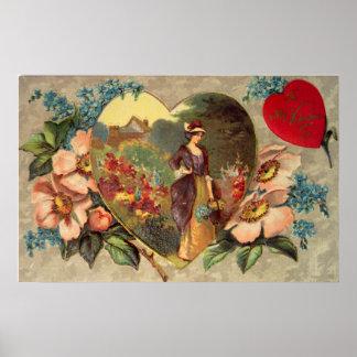 A Garden of Flowers Valentine Poster