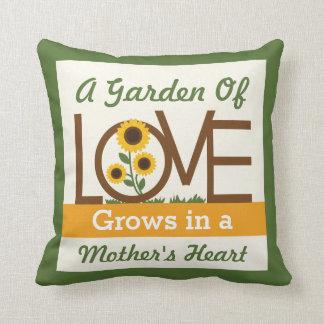 A Garden of Love Grows in a Mom s Heart Throw Pillows