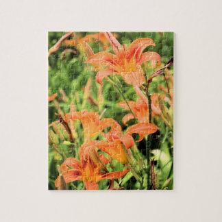 A Garden of Orange Tiger Lilies Puzzles