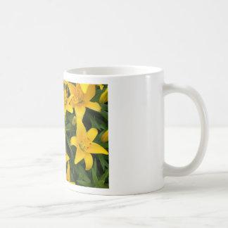 A garden of Yellow Lilies Basic White Mug