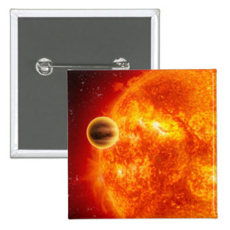 A gas-giant exoplanet 15 cm square badge