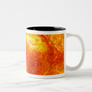 A gas-giant exoplanet Two-Tone coffee mug