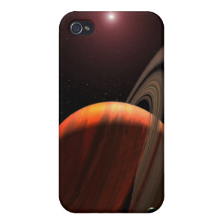 A gas giant planet orbiting a red dwarf cases for iPhone 4