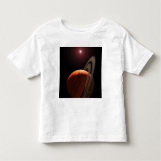 A gas giant planet orbiting a red dwarf shirt
