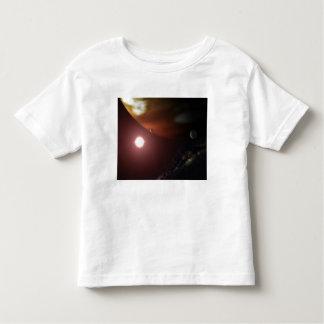 A gas giant planet orbiting a red dwarf star tshirts
