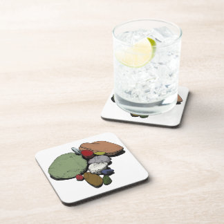 A Gathering of Coloured Stones Beverage Coaster