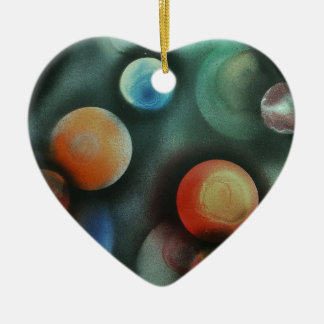A Gathering of Planets Ceramic Heart Decoration