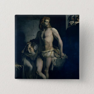 A Gaul and his Daughter Imprisoned in Rome, 1847 15 Cm Square Badge