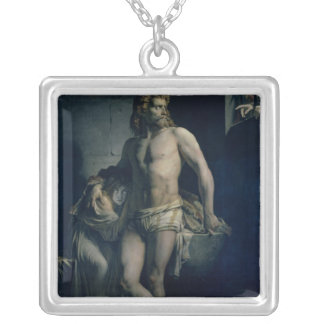 A Gaul and his Daughter Imprisoned in Rome, 1847 Silver Plated Necklace