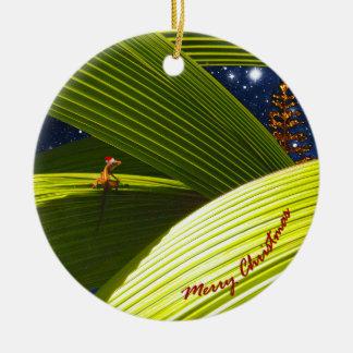 A Gecko Lizard's Tropical Christmas Christmas Ornament