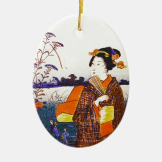A Geisha By the Water Christmas Ornament