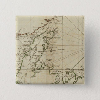 A General Chart Of The Island Of Newfoundland 15 Cm Square Badge