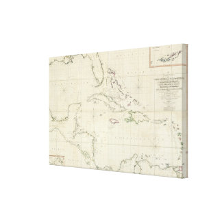 A General Chart of the West Indies Canvas Print