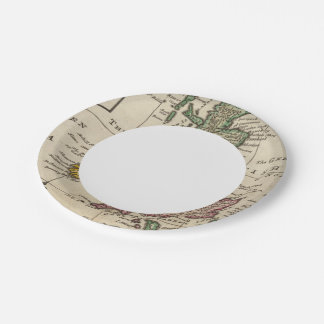 A general map of Great Britain and Ireland 7 Inch Paper Plate
