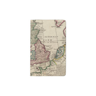 A general map of Great Britain and Ireland Pocket Moleskine Notebook