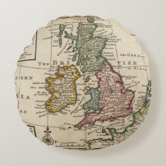 A general map of Great Britain and Ireland Round Cushion