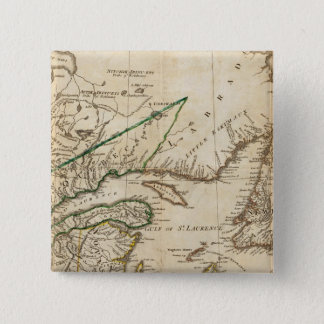 A General Map of the Northern British Colonies 15 Cm Square Badge