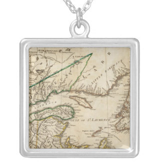A General Map of the Northern British Colonies Silver Plated Necklace