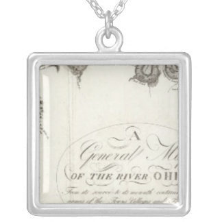 A General Map Of The River Ohio Silver Plated Necklace