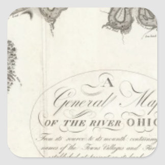 A General Map Of The River Ohio Square Sticker
