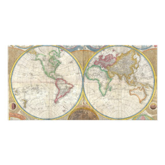 A General Map of the World by Samuel Dunn 1794 Customised Photo Card