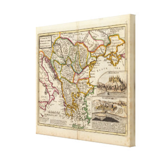 A general map of Turkey in Europe Canvas Print