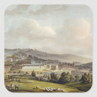 A General View of Bath, from 'Bath Illustrated by Square Sticker