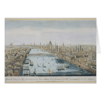 A General View of the City of London and the River Card