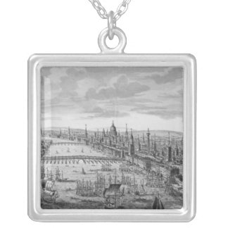 A General View of the City of London Silver Plated Necklace