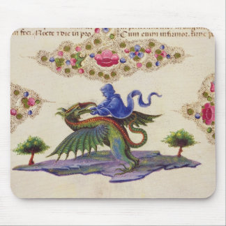 A Genie and Winged Monster Mouse Mat