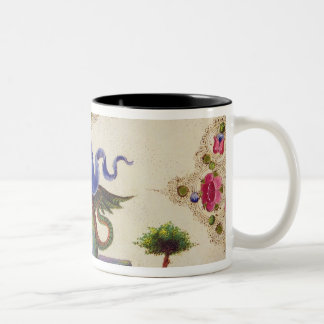 A Genie and Winged Monster Two-Tone Coffee Mug
