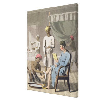 A Gentleman Dressing, attended by his Head Bearer, Canvas Prints