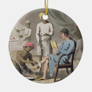 A Gentleman Dressing, attended by his Head Bearer, Christmas Ornament