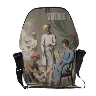 A Gentleman Dressing, attended by his Head Bearer, Commuter Bags
